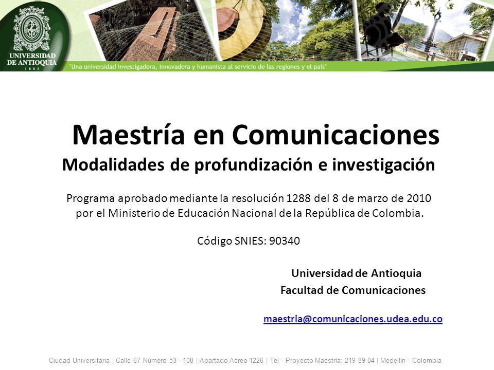Maestría en Comunicaciones