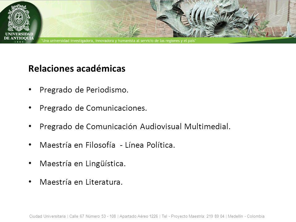 Relaciones académicas