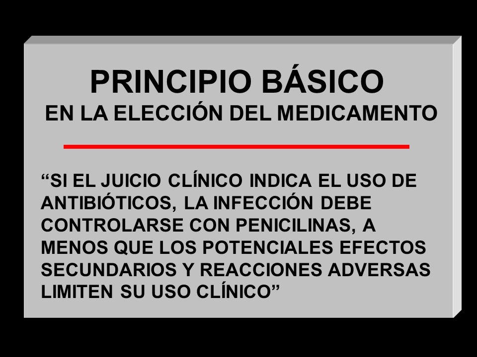 EN LA ELECCIÓN DEL MEDICAMENTO