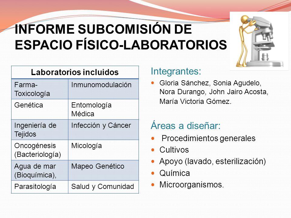INFORME SUBCOMISIÓN DE ESPACIO FÍSICO-LABORATORIOS