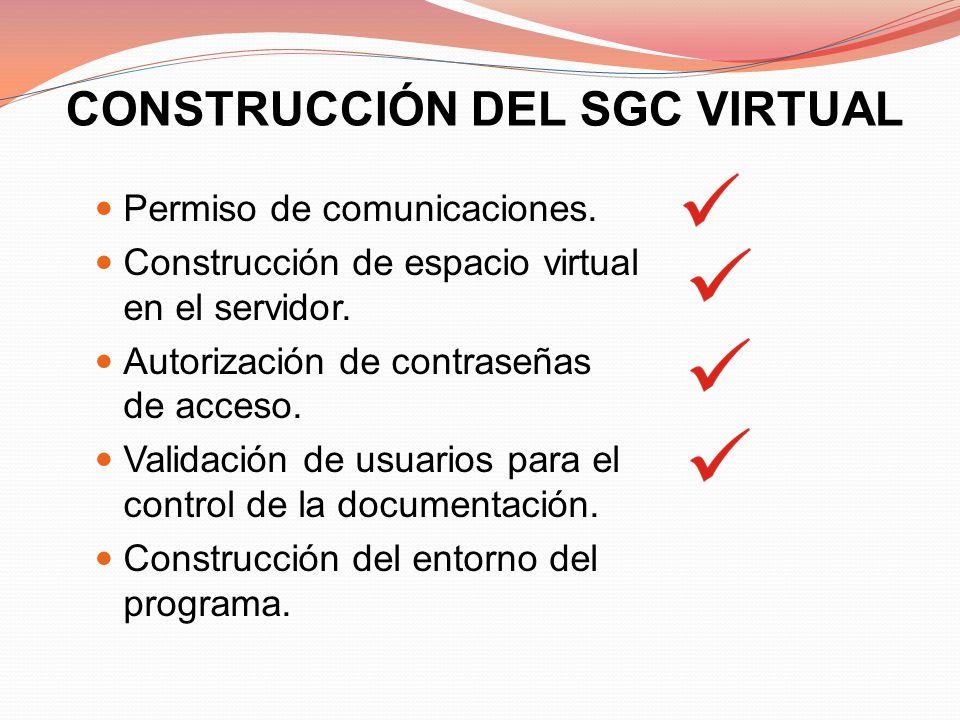 CONSTRUCCIÓN DEL SGC VIRTUAL