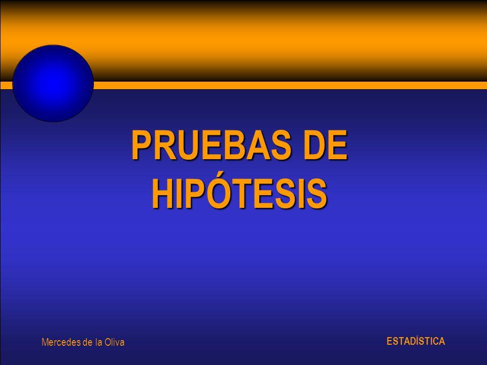 PRUEBAS DE HIPÓTESIS Mercedes de la Oliva