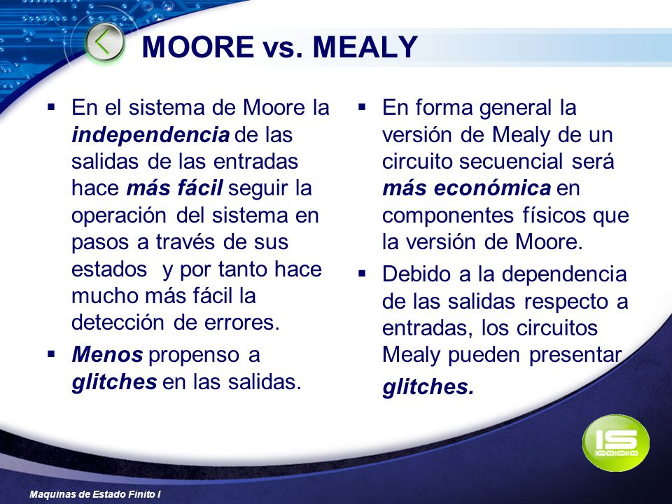 MOORE vs. MEALY