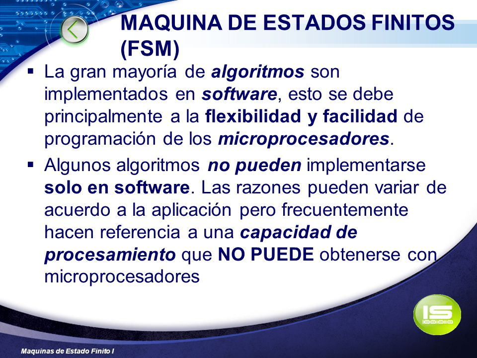 MAQUINA DE ESTADOS FINITOS (FSM)