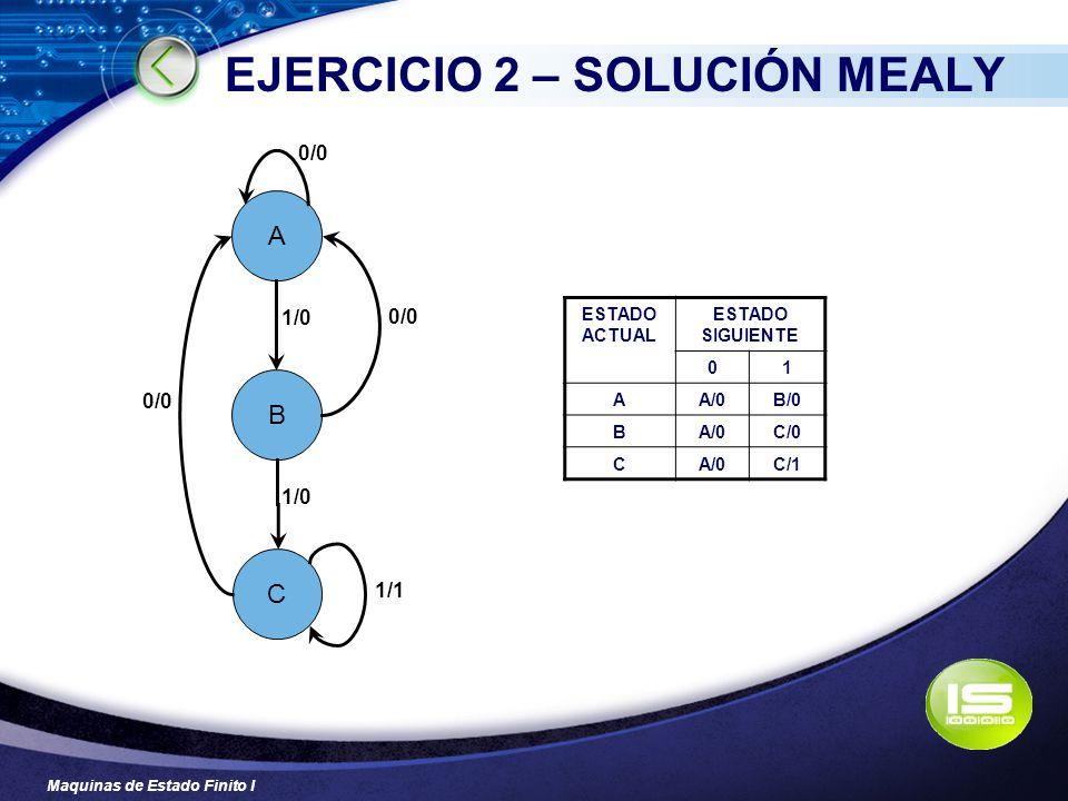 EJERCICIO 2 – SOLUCIÓN MEALY
