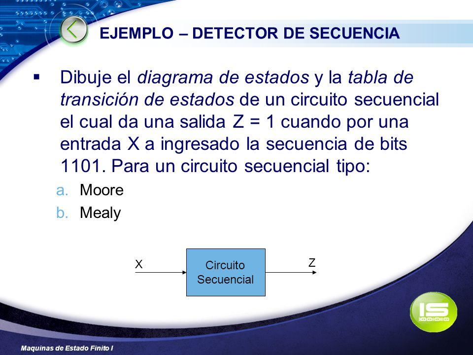 EJEMPLO – DETECTOR DE SECUENCIA