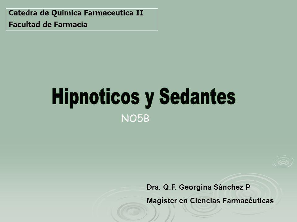 Hipnoticos y Sedantes NO5B Catedra de Quimica Farmaceutica II