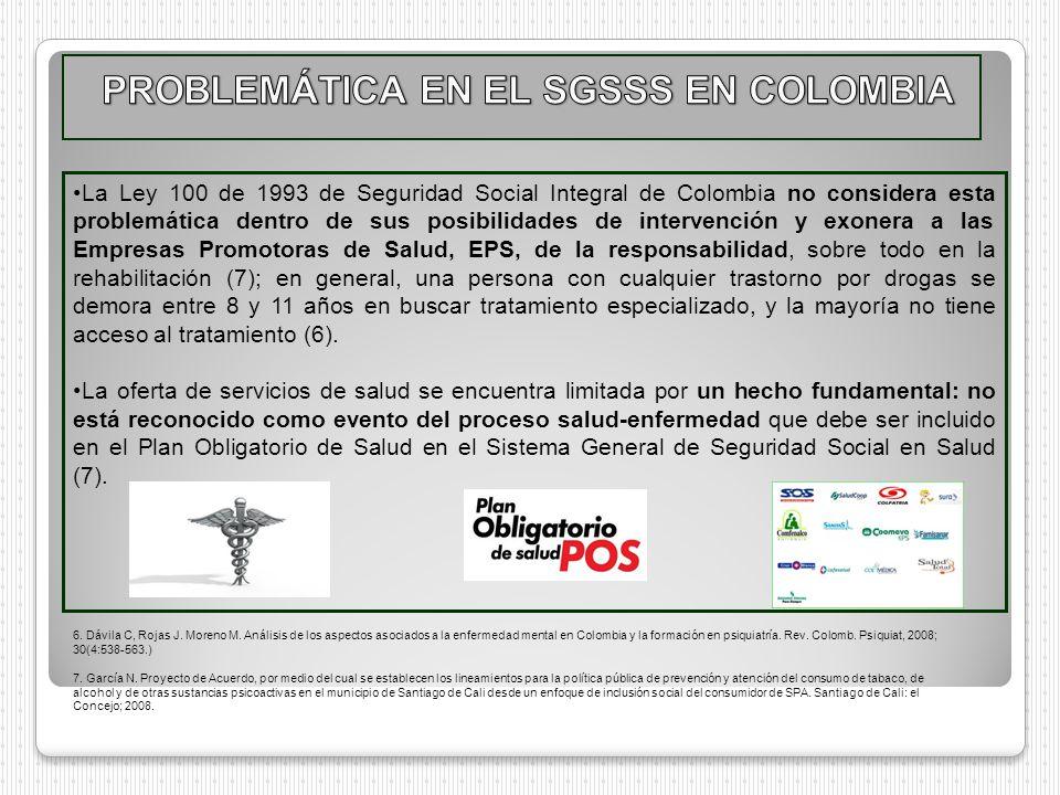 PROBLEMÁTICA EN EL SGSSS EN COLOMBIA