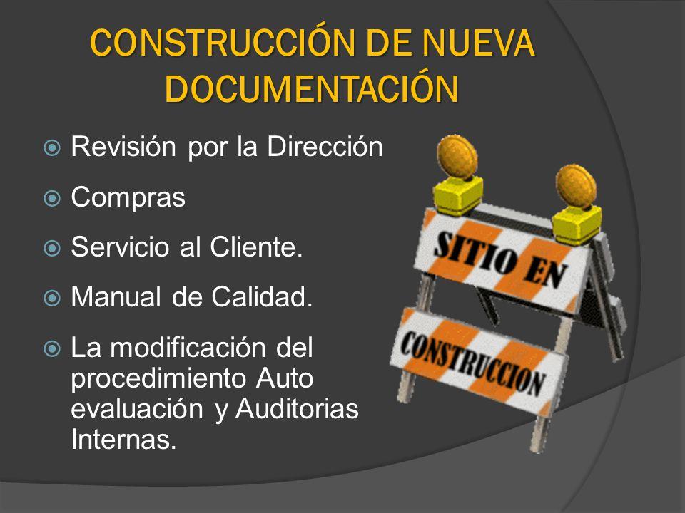 CONSTRUCCIÓN DE NUEVA DOCUMENTACIÓN