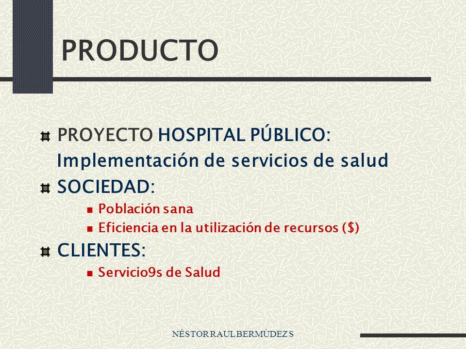 PRODUCTO PROYECTO HOSPITAL PÚBLICO:
