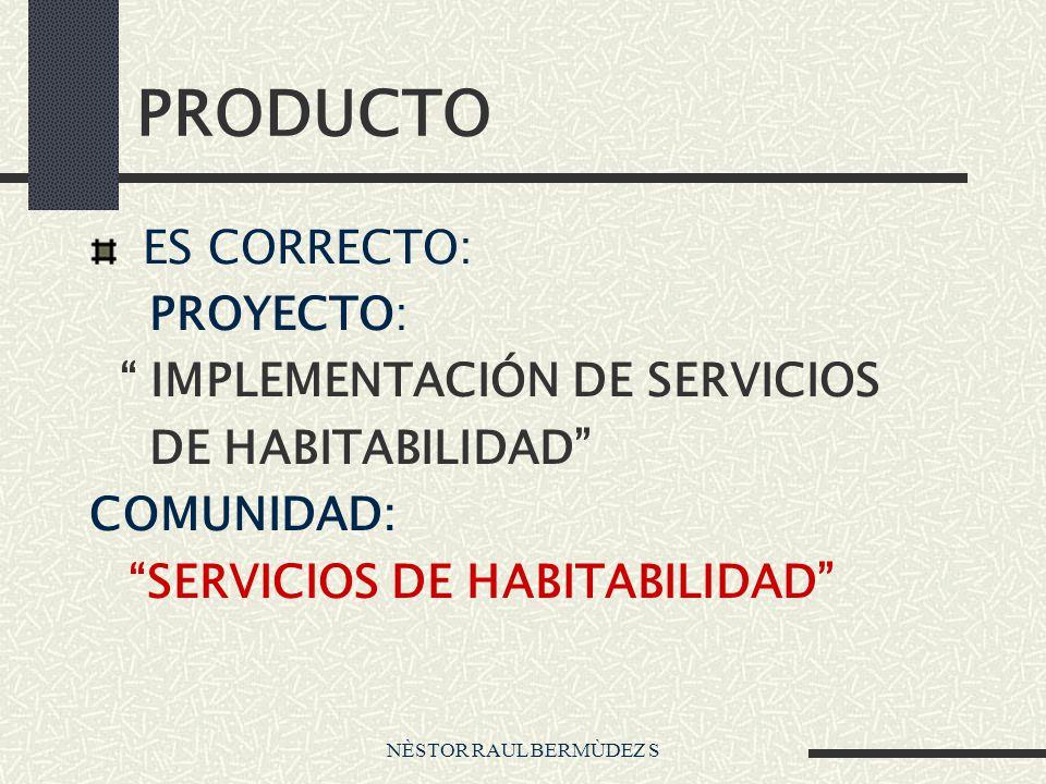 PRODUCTO ES CORRECTO: PROYECTO: IMPLEMENTACIÓN DE SERVICIOS