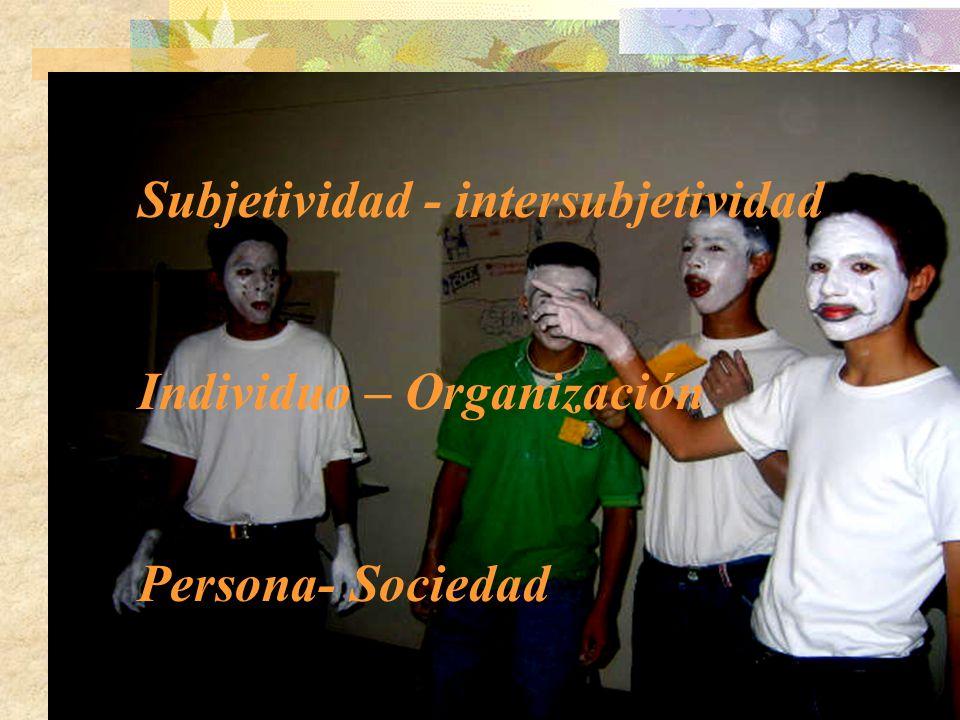 Subjetividad - intersubjetividad