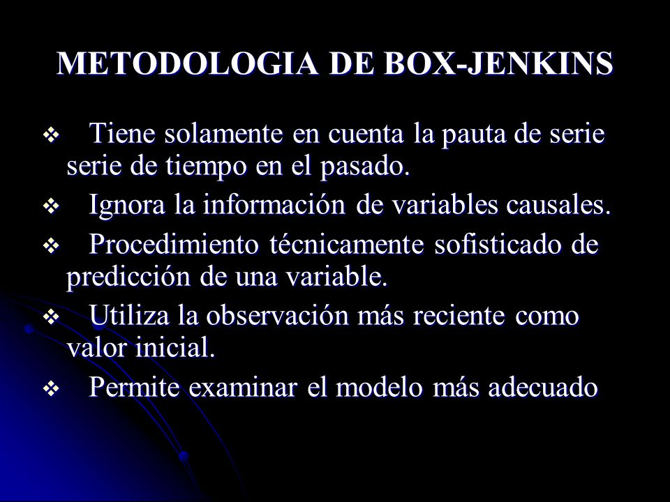 METODOLOGIA DE BOX-JENKINS