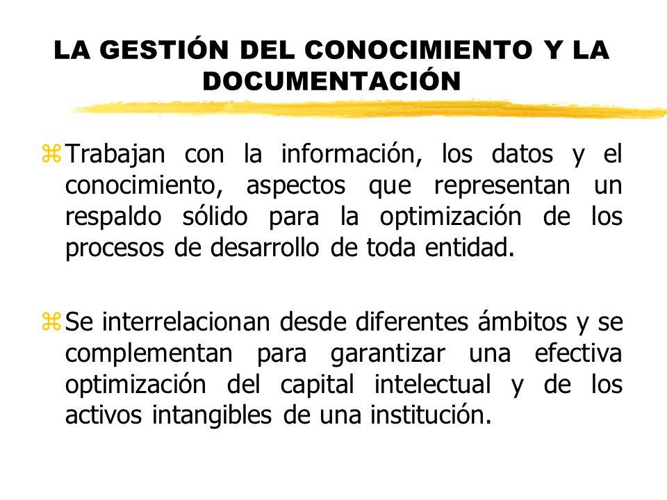 LA GESTIÓN DEL CONOCIMIENTO Y LA DOCUMENTACIÓN