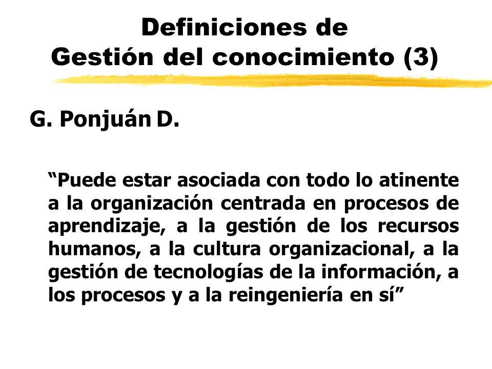 Definiciones de Gestión del conocimiento (3)