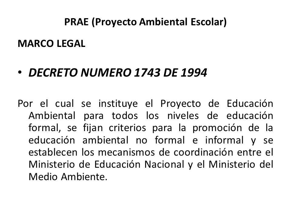 PRAE (Proyecto Ambiental Escolar)