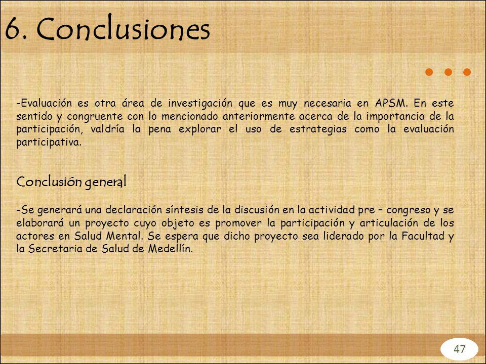 6. Conclusiones Conclusión general 47