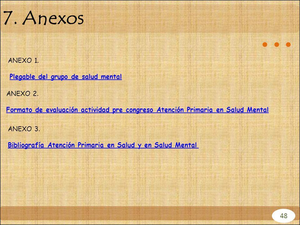 7. Anexos 48 ANEXO 1. Plegable del grupo de salud mental ANEXO 2.