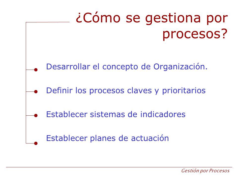 ¿Cómo se gestiona por procesos