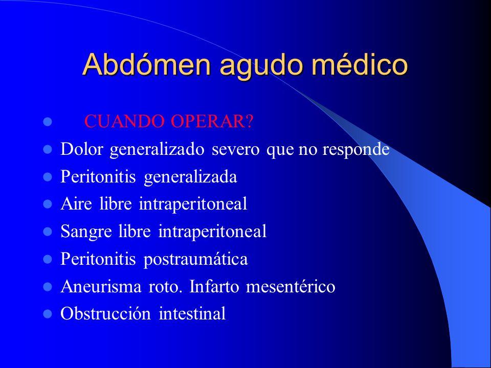 Abdómen agudo médico CUANDO OPERAR