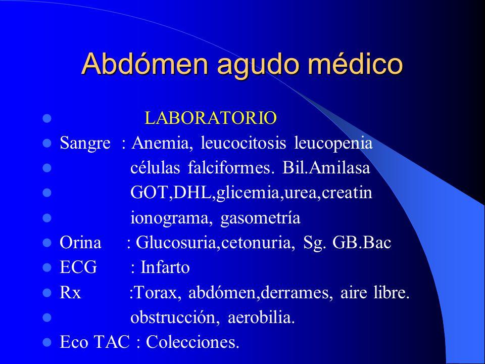 Abdómen agudo médico LABORATORIO