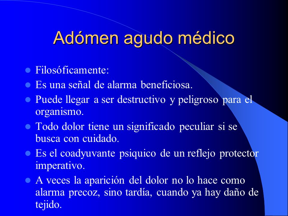 Adómen agudo médico Filosóficamente: