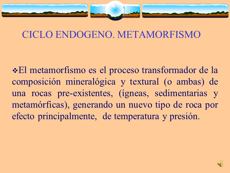 CICLO ENDOGENO. METAMORFISMO