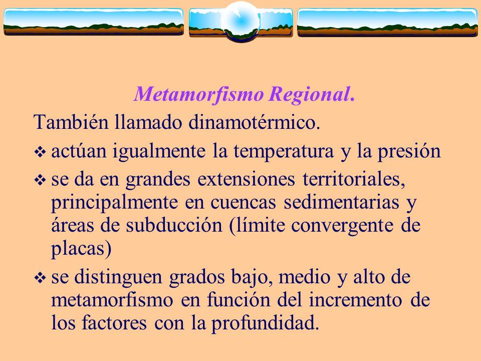 Metamorfismo Regional.