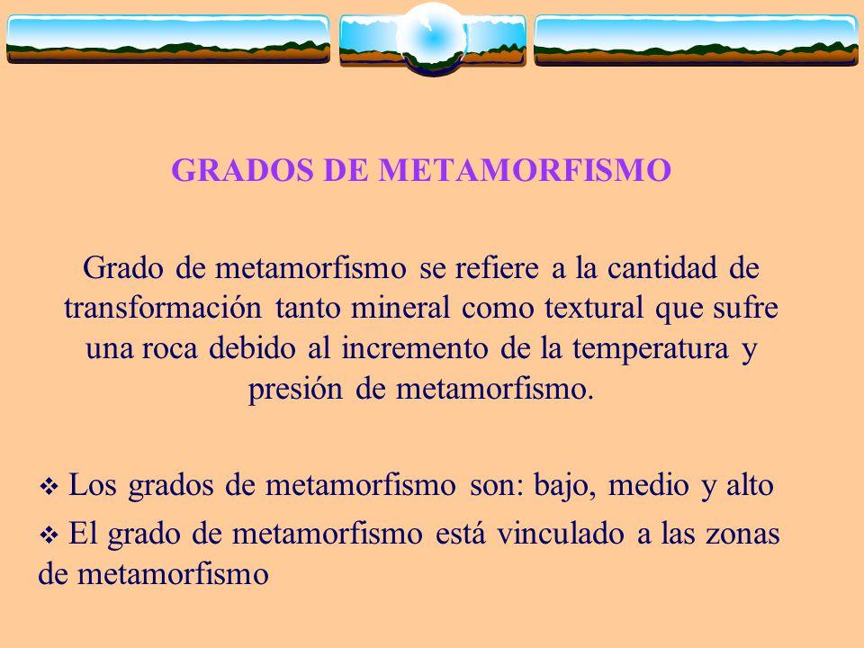 GRADOS DE METAMORFISMO