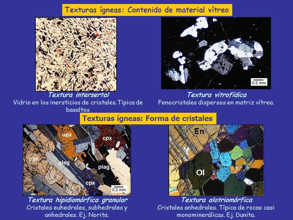 Textura hipidiomórfica granular Textura alotriomórfica