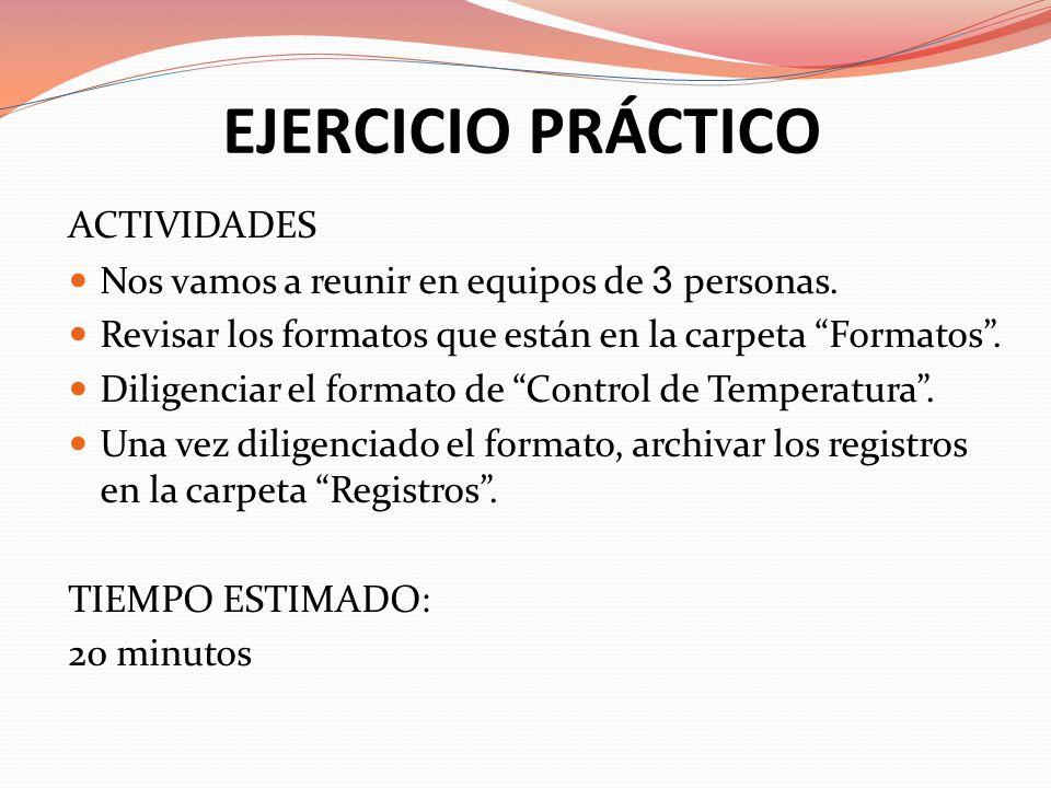 EJERCICIO PRÁCTICO ACTIVIDADES