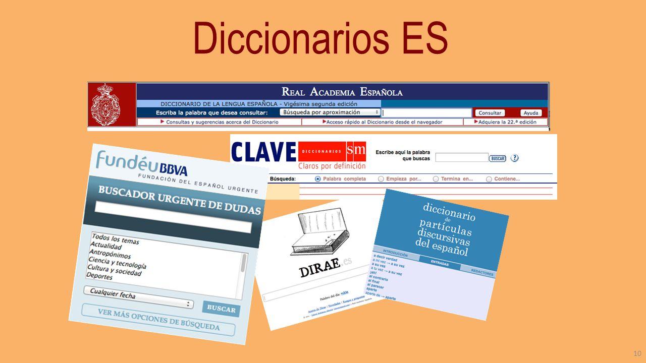 Diccionarios ES