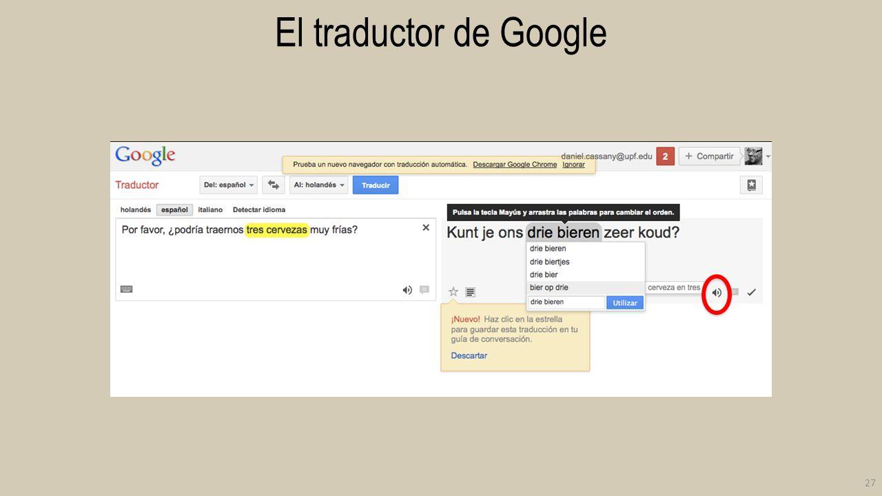 El traductor de Google