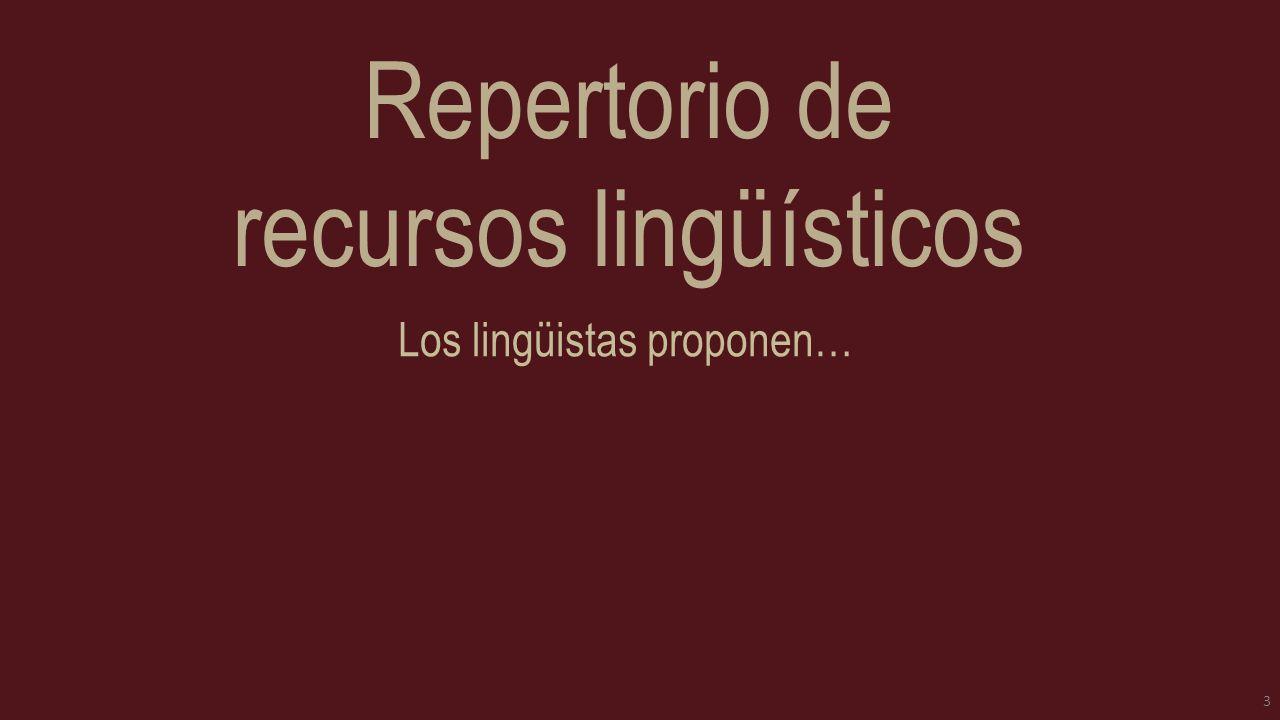Repertorio de recursos lingüísticos