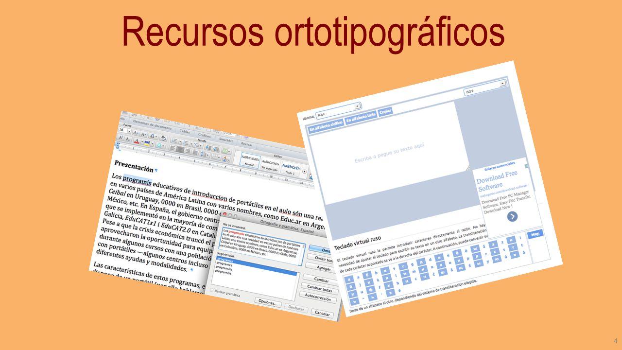 Recursos ortotipográficos