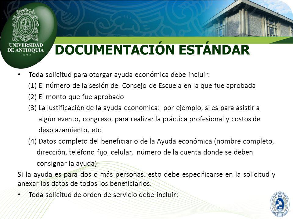 DOCUMENTACIÓN ESTÁNDAR