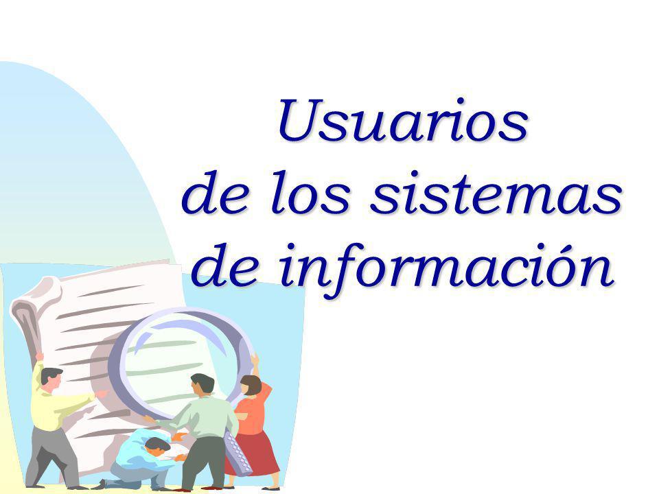 Usuarios de los sistemas de información