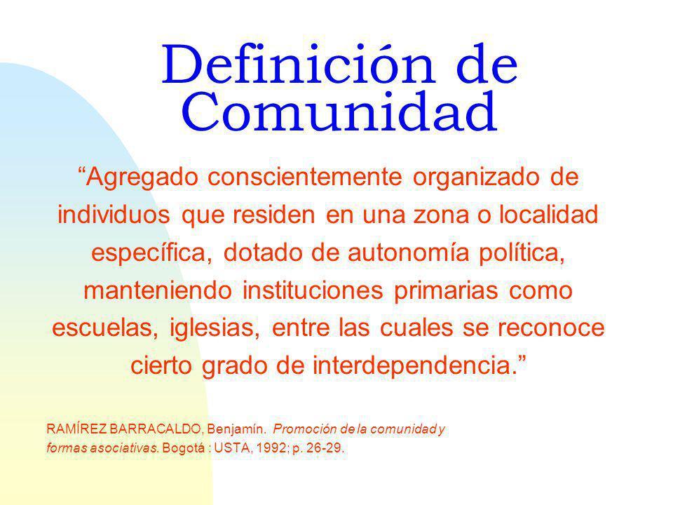 Definición de Comunidad