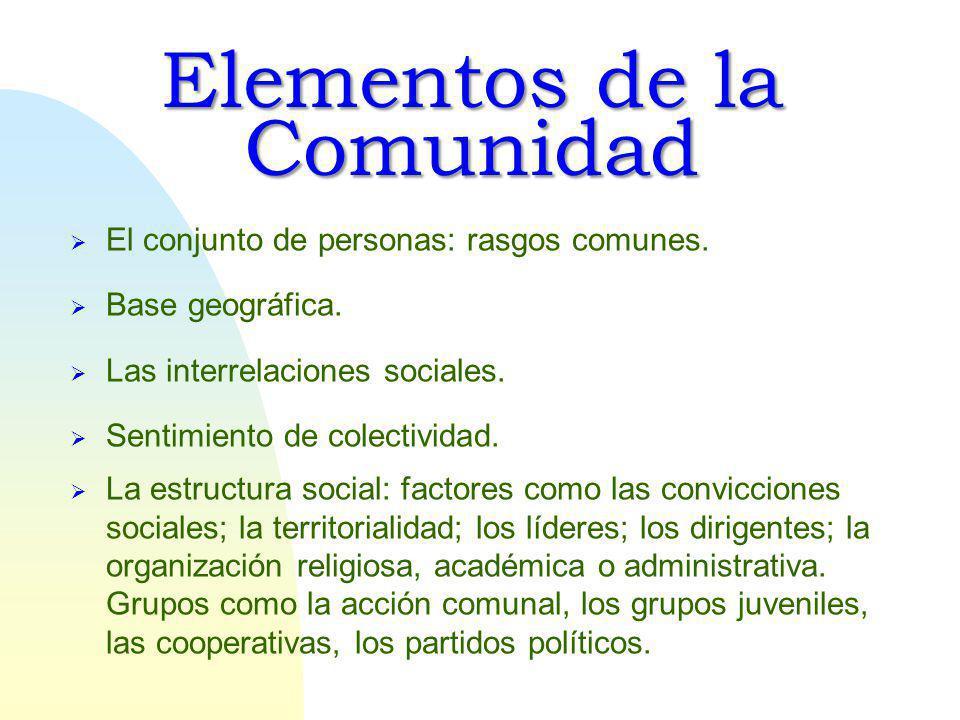 Elementos de la Comunidad