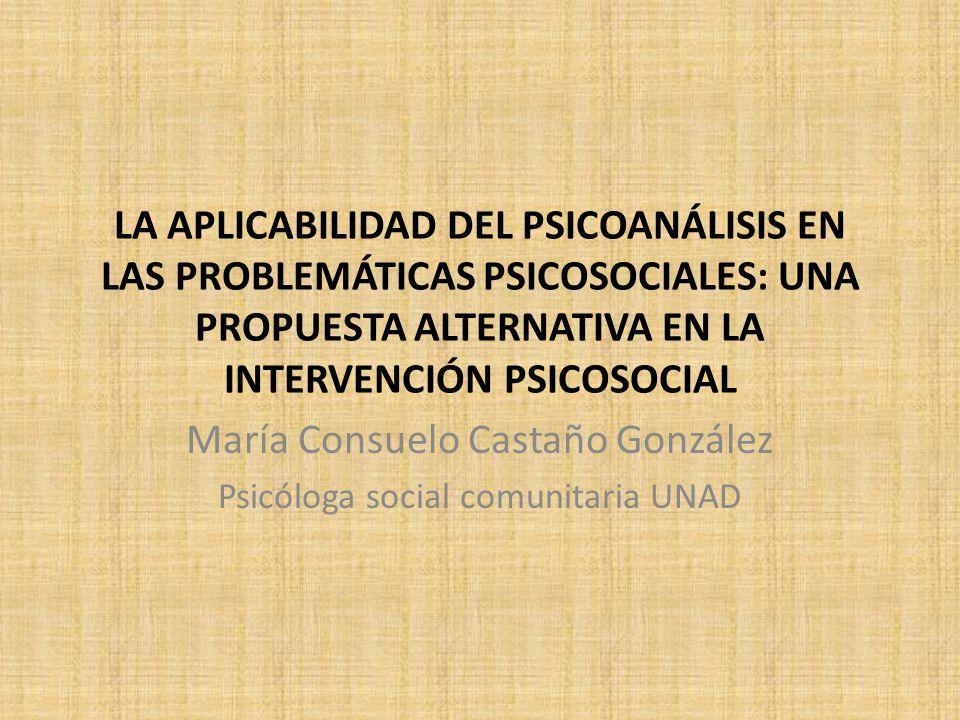 María Consuelo Castaño González Psicóloga social comunitaria UNAD