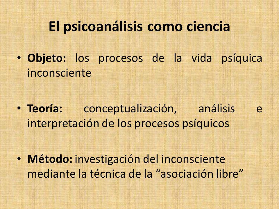 El psicoanálisis como ciencia