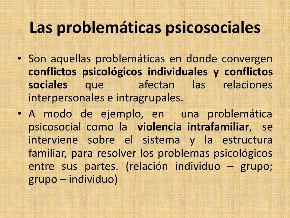 Las problemáticas psicosociales