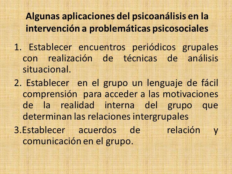 Algunas aplicaciones del psicoanálisis en la intervención a problemáticas psicosociales