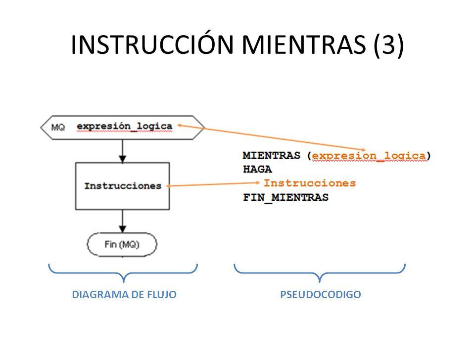 INSTRUCCIÓN MIENTRAS (3)
