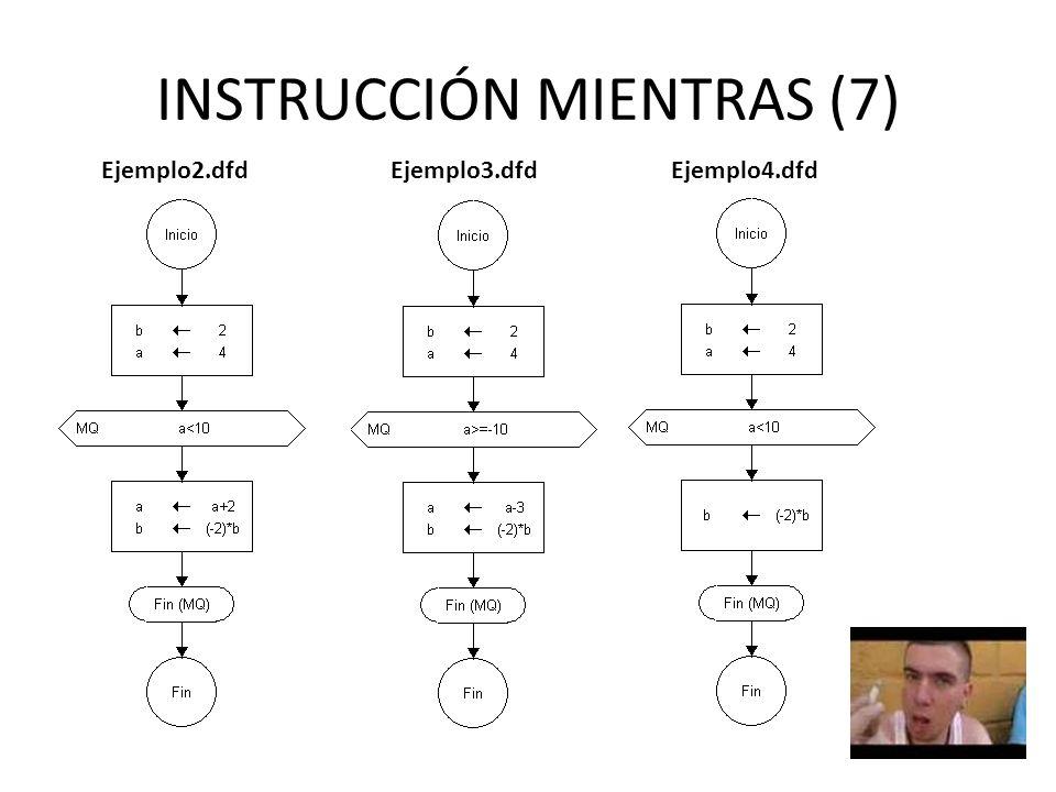INSTRUCCIÓN MIENTRAS (7)