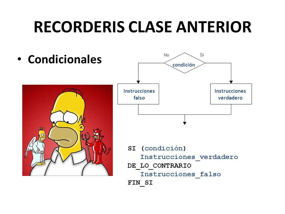 RECORDERIS CLASE ANTERIOR