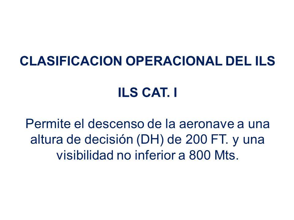 CLASIFICACION OPERACIONAL DEL ILS ILS CAT