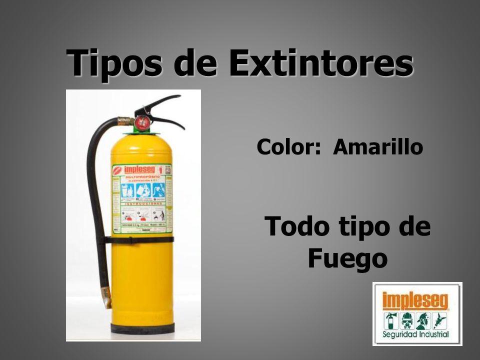 Tipos de Extintores Color: Amarillo Todo tipo de Fuego