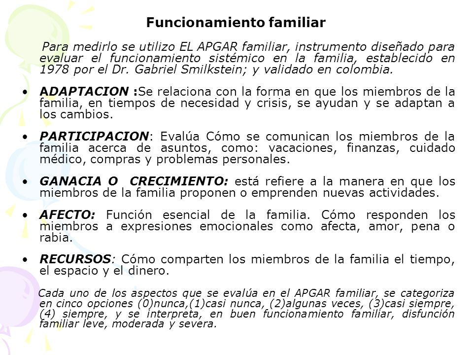 Funcionamiento familiar