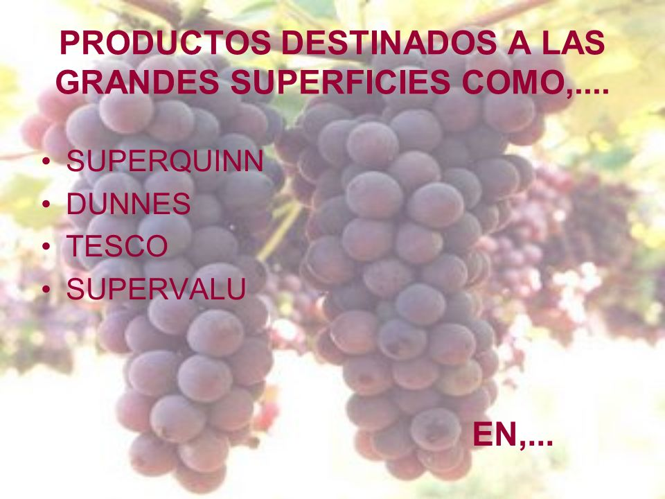 PRODUCTOS DESTINADOS A LAS GRANDES SUPERFICIES COMO,....